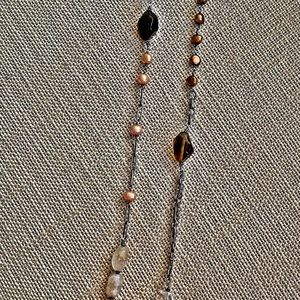 Silpada mixed stone necklace - freshwater pearls a